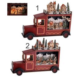 Truck mit Weihnachtsszene - LED XXL Weihnachtsdeko Dekoration Weihnachten LKW Laster