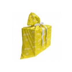 Abakuhaus Geschenkbox 3x Bändern Wiederbenutzbar, Gelb und Weiß Juicy Zitronen