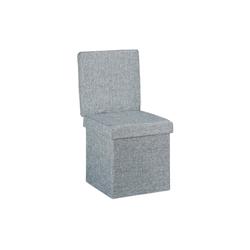 relaxdays Sitzhocker Faltbarer Sitzhocker mit Lehne grau