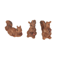 VBS Dekofigur Mini Eichhörnchen, 3 Stück