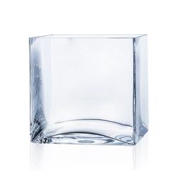 matches21 HOME & HOBBY Blumentopf Glas Vase Dekoglas quadratisch Glasvase klar 20x20x20 cm (1 Stück) 20 cm x 20 cm