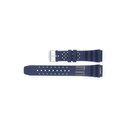 JuwelmaLux Uhrenarmband Uhrband Kunststoff für Taucheruhren Blau 20 mm