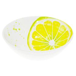 Lashuma Servierschale Zitrone, Keramik, Große Salatschale, Runde Schüssel Ø 20 cm