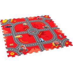 Knorrtoys Puzzle Disney/Pixar Cars, Modular Race, Puzzlematte, Bodenpuzzle bunt Kinder Ab 3-5 Jahren Altersempfehlung