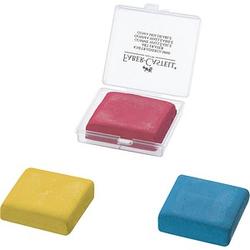FABER-CASTELL Knetgummi 127321 gelb, rot oder blau