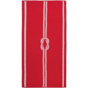 ZOLLNER XXL Strandtuch Baumwolle, 100x200 cm, rot-weiß (weitere verfügbar)
