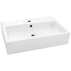 welltime Aufsatzwaschbecken Verona, eckig, Breite 60 cm, Tiefe 42 cm, Becken, Waschbecken