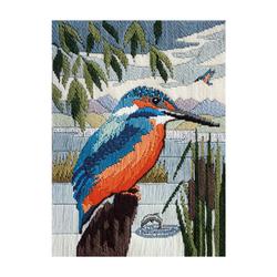 "Bothy Threads Langstich-Set ""Eisvogel"", 15x20.4cm, DWSD17, Zählmuster"