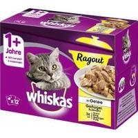 Whiskas 1+ Ragout Geflügelauswahl in Gelee 12 x 85 g