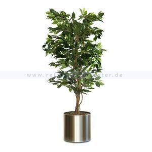 Kunstpflanze Ficus Benjamina Grün 210 cm Grün ohne Blumentopf