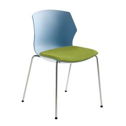 Stapelstuhl in Blaugrau und Grün Kunststoff