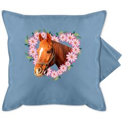 Shirtracer Kissenbezug Pferd mit Herz - Pferde - Bedruckte Kissenhülle Kissen ohne Füllung - Kissen, Pferde