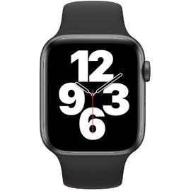 Apple Watch SE GPS 44 mm Aluminiumgehäuse space grau, Sportarmband schwarz