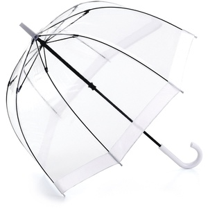 Fulton Regenschirm Glockenschirm transparent / durchsichtig weiß