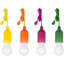 MediaShop LED Gartenleuchte HandyLUXcolors, kabellose LED Allzweckleuchte, 4er-Set