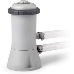 Intex Pool-Filterpumpe 28604 Krystal Clear Cartridge Filter Pump, Pool Kartuschenfilteranlage - 1,7m3/h, Grau