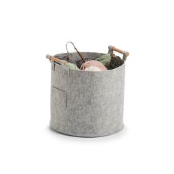 HTI-Living Aufbewahrungsbox Aufbewahrungskorb mit Griffen, Aufbewahrungskorb grau 35 cm x 32.5 cm