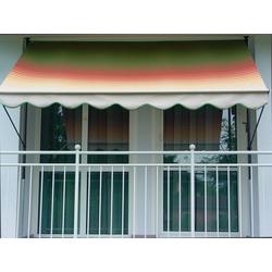 Angerer Freizeitmöbel Klemmmarkise, grün/rot/gelb, Ausfall: 150 cm, versch. Breiten grün Klemm-Markisen Markisen Garten Balkon Klemmmarkise