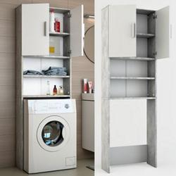 Vicco Waschmaschinenschrank Badregal Hochschrank Waschmaschine 190 x 64 cm Beton