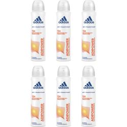 """Deo-Spray """"adipower"""", Spar-Set 6-tlg., Deodorante, 92022055-0 weiß 900 ml weiß"""