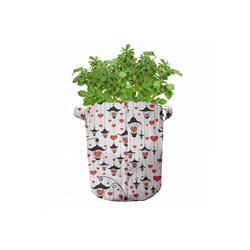 Abakuhaus Pflanzkübel hochleistungsfähig Stofftöpfe mit Griffen für Pflanzen, Valentines Laternen und Herzen 28 cm x 28 cm