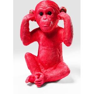 Kare Design Spardose Monkey Kikazaru Rot