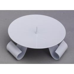 Taufkerzenhalter Dreifuß Eisen weiß gelackt mit Dorn Ø 11,5 cm für Taufkerzen