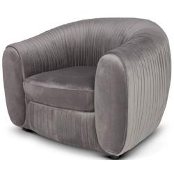 Casa Padrino Luxus Samt Sessel Grau 98 x 88 x H. 74 cm - Eleganter Wohnzimmer Sessel - Luxus Möbel