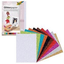 folia Tonpapier Glitterpapier farbsortiert 24,0 x 34,0 cm 170 g/qm