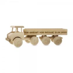 Spielzeug Sattelzug aus Holz (Gravurmaß 280x25mm)
