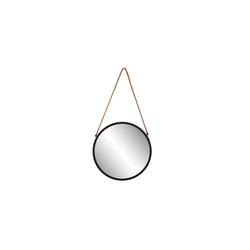 Spiegelprofi Metallspiegel Hannah in schwarz, 30 cm
