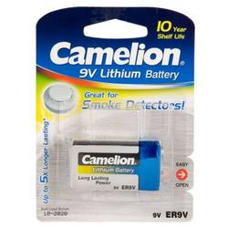 Camelion 10 Jahres Batterie für Rauchmelder Lithium ER9V, 9V, Lithium