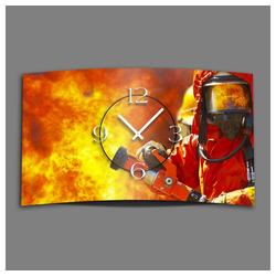 dixtime Wanduhr Feuerwehr Designer Wanduhr modernes Wanduhren (Einzigartige 3D-Optik aus 4mm Alu-Dibond)