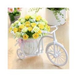 Kunstblume, Gotui, Mini Fake Rattan Dreirad Fahrrad Blumenkorb Vase Lagerung Hochzeit Home Decor