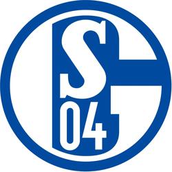 Wandtattoo »Schalke 04 Logo«, Wandtattoos, 67749966-0 bunt 40x40 cm bunt