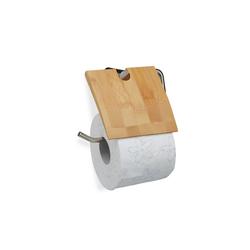 relaxdays Toilettenpapierhalter Toilettenpapierhalter Bambus