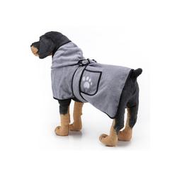 TOPMELON Hundebademantel, Hundebademantel,Bademantel Hund&Super Absorbierende grau S