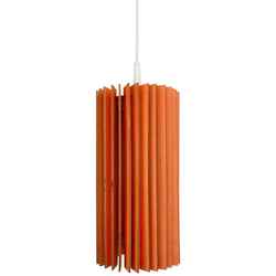 WODEWA Set: Pendelleuchte Holzlampe Lux, LED, 1-flammig, 14 x 30 cm rot 1-flammig