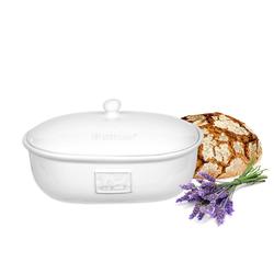 BigDean Brotkasten Brottopf Toskana Oval mit Belüftung aus Steingut Brotkorb 36,5 x 25,5 x 19 cm, Steingut, (1-tlg)