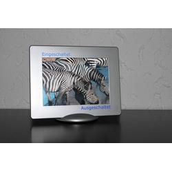 JOKA international LED-Bilderrahmen Design Bilderrahmen mit LED Hintergrundbeleuchtung, Rahmen Silber, LED Hintergrundbeleuchtung