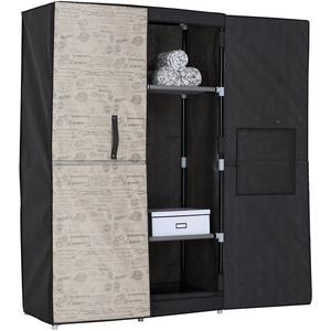 Jocca Kleidung Kleiderschrank mit RIGIG Türen – 170 x 100 x 46 cm – von – OR056, schwarz/beige