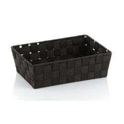 Kela Aufbewahrungskorb Alvaro in schwarz, 29,5 x 20,5 cm