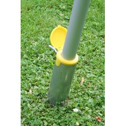 Floracord Bodenhülse silberfarben Sonnensegel Sonnenschirme -segel Gartenmöbel Gartendeko