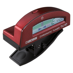 Boss TU-10-RD Clip-On Tuner rot