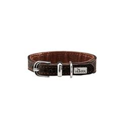 Hunter Hunde-Halsband Cody Petit Kleinhunde, Leder braun 1 cm x 24 cm