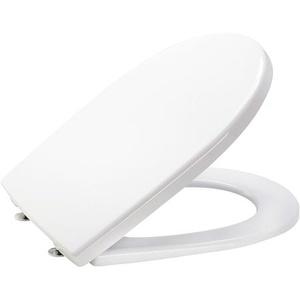 Csslr Plus hvid toiletsæde med faste beslag - passer på Gustavsberg Nordic og Nautic toiletter.