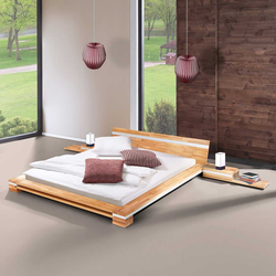 Bett mit Nachtkommoden modern