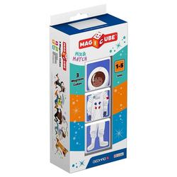 Geomag™ Magnetspielbausteine Magicube Jobs, 3 Magnetwürfel, Berufe, magnetische Würfel, Würfelpuzzle