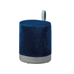 ebuy24 Pouf Osana Fusshocker, Hocker blau und grau.