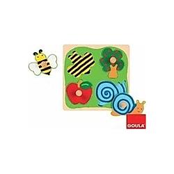 Biene  Apfelbaum und Schnecke (Holzpuzzle)